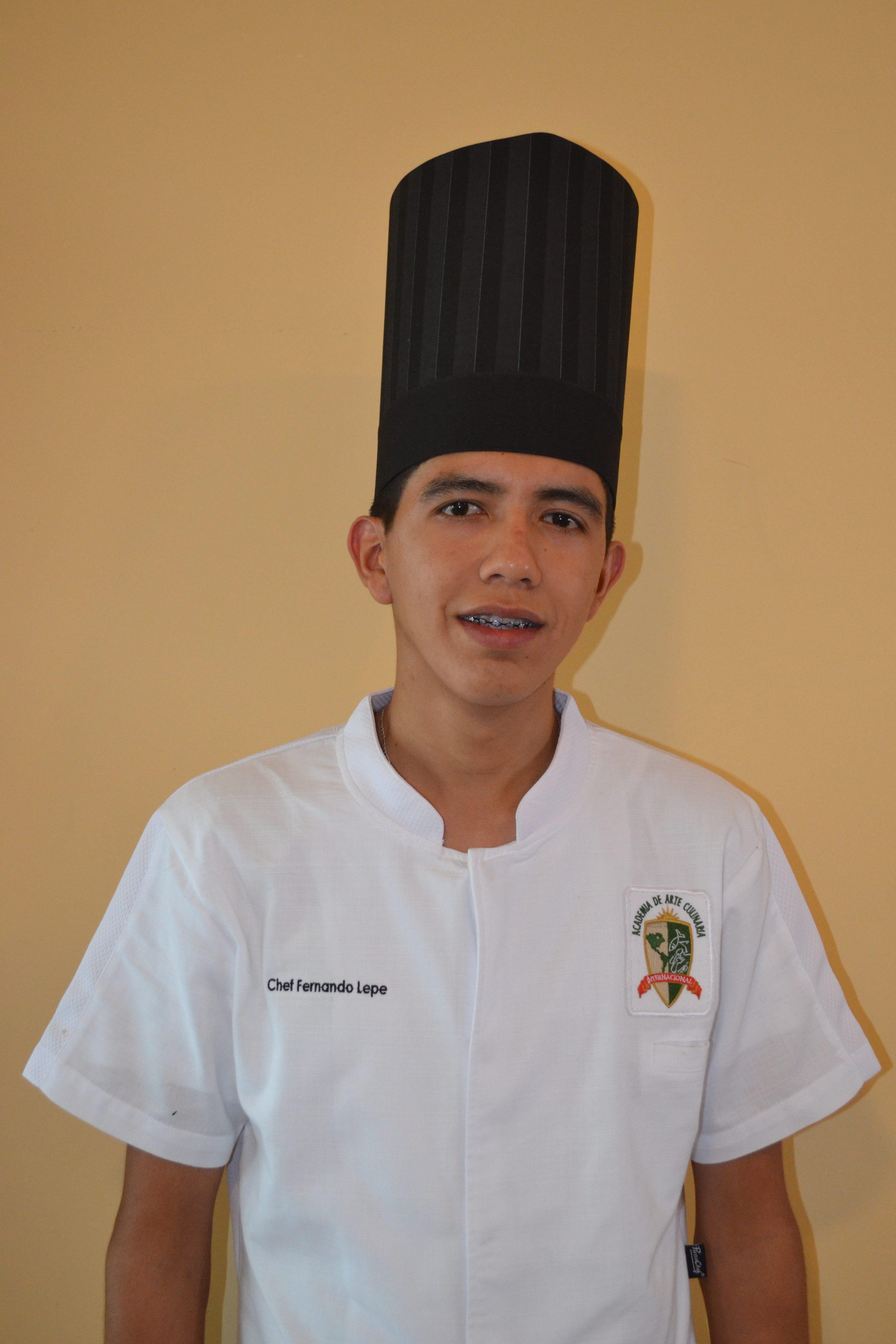 Graduate- Luis Fernando Lepe Aguilar- Culinarty Arts- Arte Culinaria